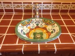 ideas for using mexican tile in your kitchen or bath countertop