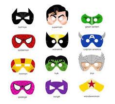free printable superhero masks print cut
