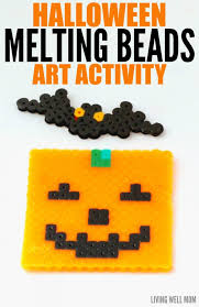 halloween melting bead art