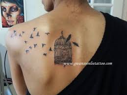flying birds from cage on shoulder bladegwan soon