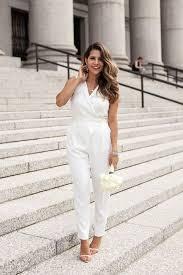 white jumpsuit wedding 40 chic bridal for same weddings weddingomania