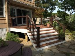 Drysnap Under Deck Rain Carrying System by Beautiful Deck Replacement Using Azek Vintage Decking U0026 Timbertech