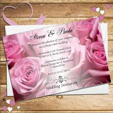 wedding invitations rose 10 personalised pink roses wedding invitations day evening n52
