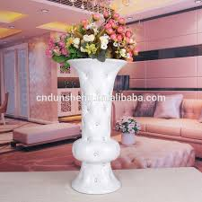 Trumpet Vases Wholesale Wholesale White Ceramic Trumpet Vases With Diamond White Black