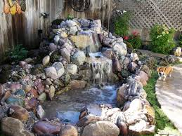 pond landscaping stacked stone water feature fountain stonewater