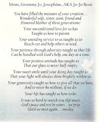 funeral programs sles memorial poems