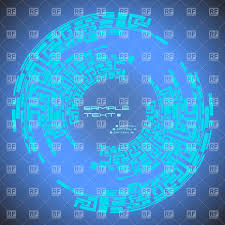 abstract blue digital labyrinth futuristic ornament vector