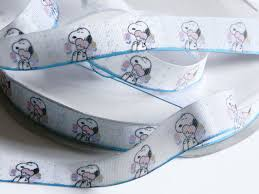 snoopy ribbon snoopy ribbon grosgrain 5 yards of 7 8 white ribbon with snoopy