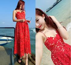 2015 spaghetti red lace short prom dresses hollow lace applique