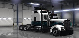 kenworth 2016 kenworth w900 custom new blue skin mod american truck simulator