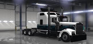 kenworth usa kenworth w900 custom new blue skin mod american truck simulator