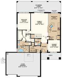 daphene ii 3 car floor plan at the enclave at channing park in