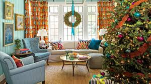 Home Decor Family Room Cheerful Christmas Color Schemes Southern Living