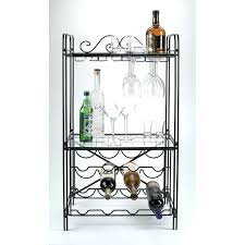 Bakers Rack With Wine Glass Holder Wine Rack Rustic Wine Rack Metal Wine Bottle Holder 5 Bottles