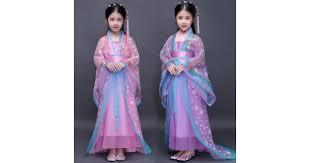 pink purple kids traditional chinese dance costumes children girls