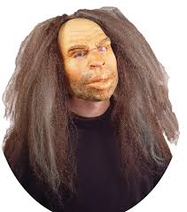 caveman mask w hair halloween costume mask u0026 scary rubber latex masks