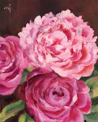 The Pink Peonies by Nel U0027s Everyday Painting Pink Peonies Take Two