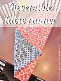 how to make a table runner with pointed ends how to make a reversible table runner of decorating