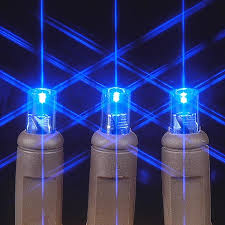 brown wire wide angle blue 50 bulb led lights sets 11