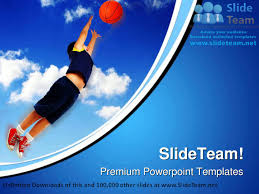 boy playing basketball sports powerpoint templates themes and