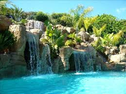 Backyard Pool With Slide Swimming Pools With Slides And Waterfalls Inground Pools With