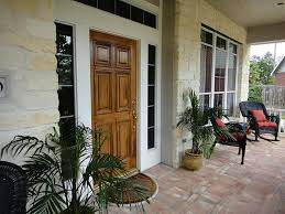 wonderful small front porches design with white fence and black