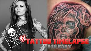 tattoo time lapse tatu baby tattoos day of the dead youtube