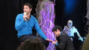 misha collins getting a manicure from osric u0026 richard burcon