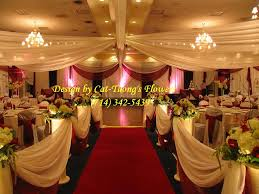 Ceiling Draping For Weddings Ceiling Draping Cat Tuong Flowers U0026 Decorations Little Saigon