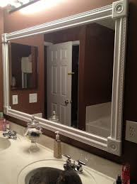 Framing An Existing Bathroom Mirror Frames For Bathroom Mirrors Framed Large White Lowes Diy Canada