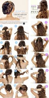 easy hairstyles for waitress s 3 easy hairstyles with merged braids hair tutorial hair