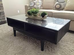 find more ikea regissor coffee table wood u0026 glass top for sale