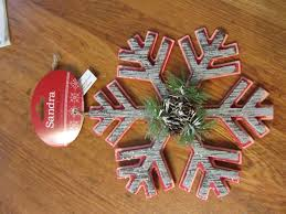 simple rustic snowflake themed tree organized clutter
