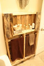 Pallet Bathroom Vanity by Diy Towel Rack Made From Pallet Pic Rustic Pallet Bathroom Shelf
