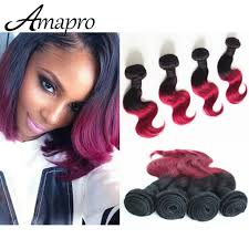pictures of black ombre body wave curls bob hairstyles amapro hair products four piece burgundy weave 10 inch short bob