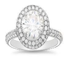 oval cut diamond 2 72 ct halo oval cut eternity micro pave diamond engagement ring