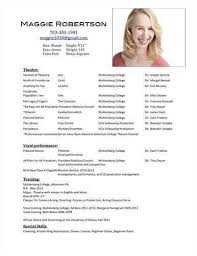 acting resumes best 25 acting resume template ideas on pinterest