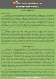 marketing plan proposal sample http www businessproposalletter