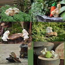 miniatures bunny lovely cute rabbits fairy garden gnome terrarium