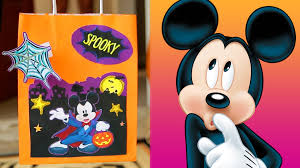 Halloween Candy Bags Craft by Mickey And Friends Halloween Treat Bags Disney Diy Youtube