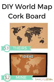 Diy World Map by World Map Cork Board