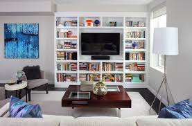 Built In Tv Bookcase Bookcase With Tv Houzz