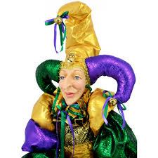 mardi gras jester costume whimsical mardi gras jester doll sized 55 xn4047t6