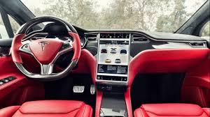 red bentley 2017 custom tesla model x with bentley red interior 2017 youtube