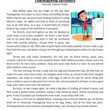 Fun Thanksgiving Questions Fifth Grade Reading Comprehension Worksheet Thanksgiving