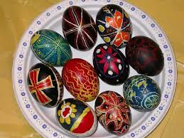 wax easter egg decorating of coloring easter eggs in poland wax flowing technique