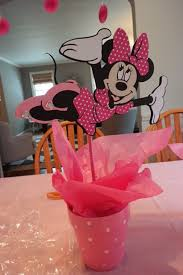 minnie mouse center pieces a diy minnie mouse 1st birthday party list
