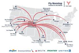 Allegiant Air Route Map by Nonstop Route Map Cos Airport