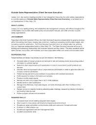 outside sales resume examples inside sales representative resume