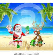 vector illustration rudolph red nosed reindeer santa